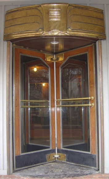 Art Deco Revolving Door Set Recycling The Past