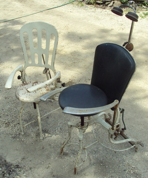 SOLD! - Antique Dental Chairs Recycling The Past - Architectural Salvage