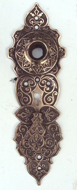 Ornate Victorian Door Plate Recycling The Past