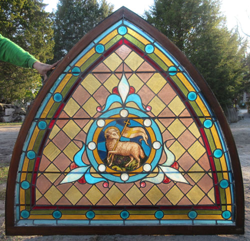 Lamb Of God Stained Glass Recycling The Past